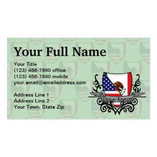 Bandeira do protetor do méxico-americano cartões de visita