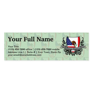 Bandeira do protetor do méxico-americano cartão de visita skinny