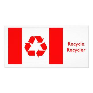 Bandeira do reciclar de Canadá Cartoes Com Foto Personalizados