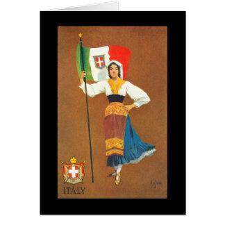 Bandeira do reino de Italia Cartão Comemorativo
