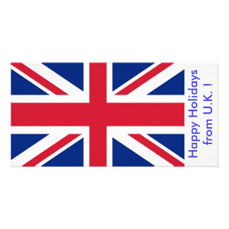 Bandeira do Reino Unido, boas festas do Reino Cartão Com Foto