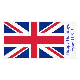 Bandeira do Reino Unido, boas festas do Reino Unid Cartão Com Foto