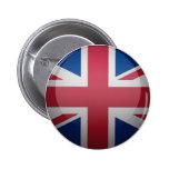 Bandeira do Reino Unido Bóton Redondo 5.08cm