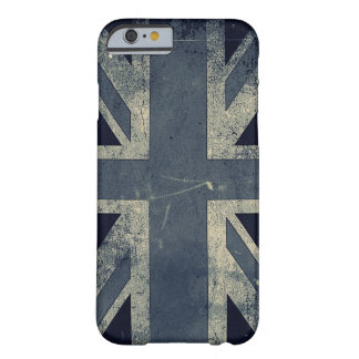 Bandeira do Reino Unido do Grunge do vintage Capa Barely There Para iPhone 6