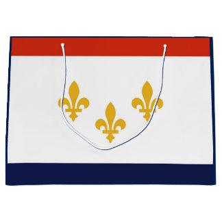Bandeira do saco do presente de Nova Orleães Sacola Para Presentes Grande