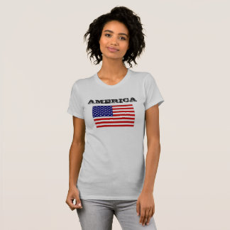 Bandeira do T das mulheres da caridade Camiseta