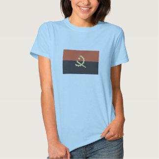 Bandeira do t-shirt de Angola para mulheres