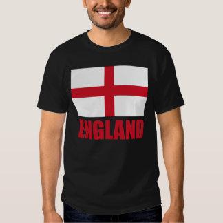 Bandeira do texto do vermelho de Inglaterra Tshirts