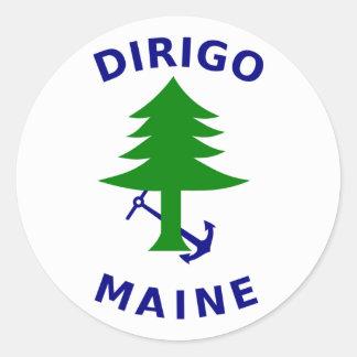 Bandeira do umbigo de Maine Adesivos Em Formato Redondos