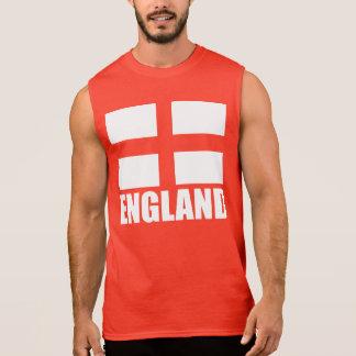 Bandeira do vermelho de Inglaterra Camiseta Sem Manga