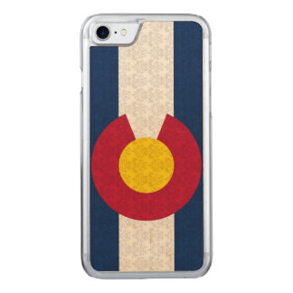Bandeira do vintage da cor damasco de Colorado Capa iPhone 8/ 7 Carved