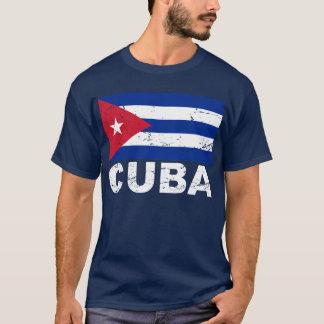 Bandeira do vintage de Cuba Tshirt