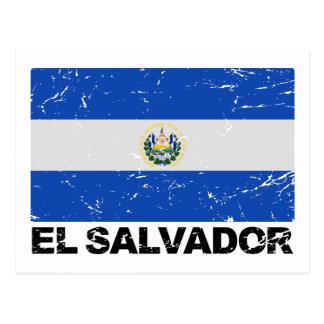 Bandeira do vintage de El Salvador Cartão Postal