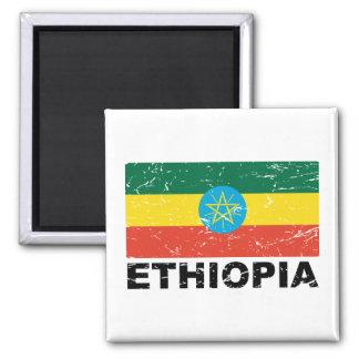 Bandeira do vintage de Etiópia Ímã Quadrado
