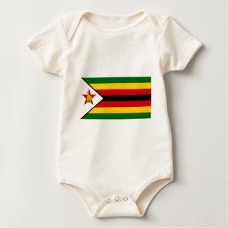 Bandeira do weZimbabwe de Zimbabwe - de Body Para Bebê
