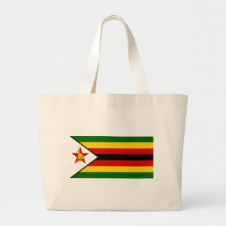 Bandeira do weZimbabwe de Zimbabwe - de Bolsa Tote Grande