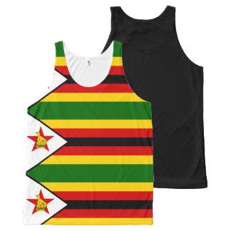 Bandeira do weZimbabwe de Zimbabwe - de Regata Com Estampa Completa