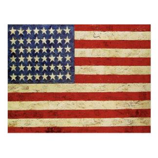Bandeira do withVintage do cartão dos EUA