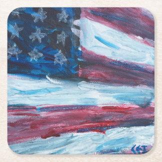 Bandeira dois da porta copos porta-copo de papel quadrado