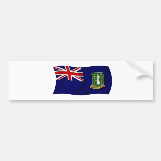 Bandeira dos British Virgin Islands Adesivos