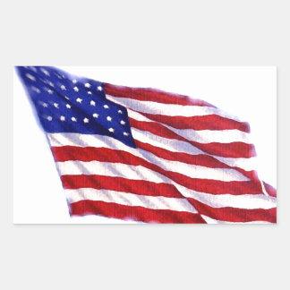 Bandeira dos E.U. Adesivo Retangular