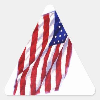 Bandeira dos E.U. Adesivo Triangular