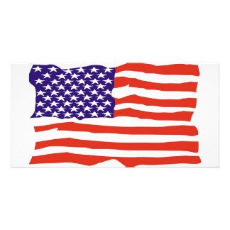 Bandeira dos E.U. Cartão Com Foto