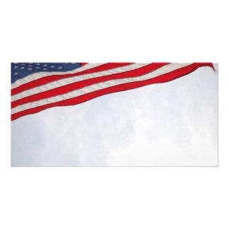 Bandeira dos E.U. Cartões Com Foto Personalizados