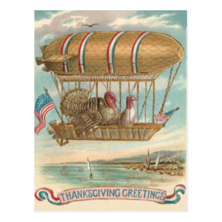 Bandeira dos E.U. do balão de ar quente de Turquia Cartão Postal
