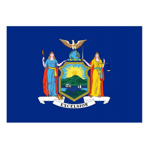 Bandeira dos Estados de Nova Iorque Modelos Cartao De Visita