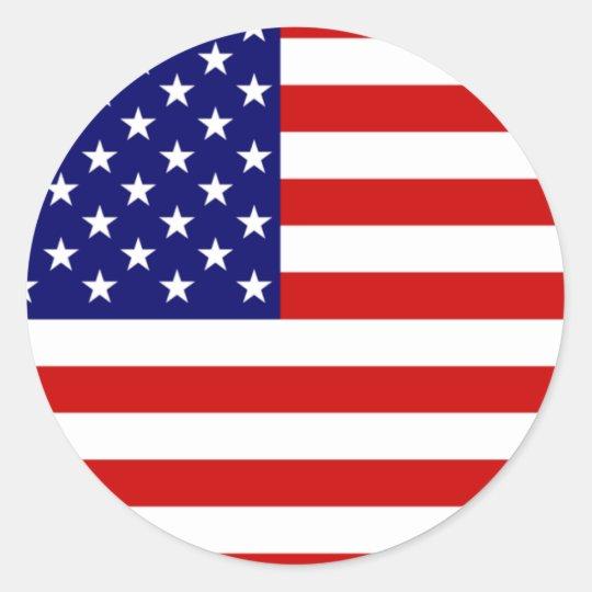 Aparador Tagalog ~ Bandeira dos Estados Unidos Adesivo Zazzle