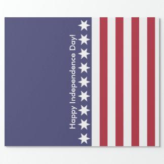 Bandeira dos Estados Unidos americana Papel De Presente