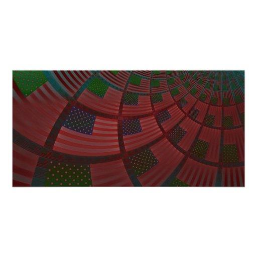 Bandeira dos Estados Unidos Cartões Com Fotos