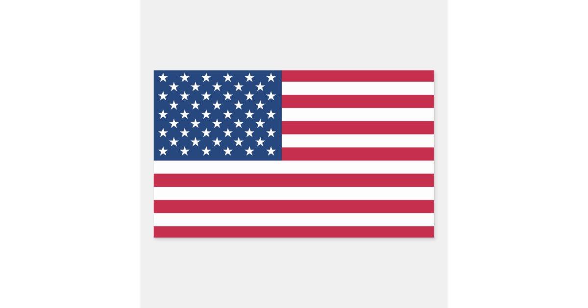 Artesanato Da Região Sul Rendas ~ Bandeira dos Estados Unidos da América Adesivo Retangular Zazzle