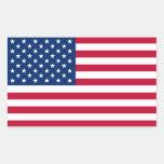 Bandeira dos Estados Unidos da América Adesivos Em Formato Retangulares