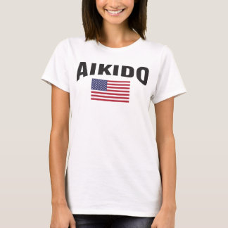 Bandeira dos Estados Unidos do Aikido Camiseta
