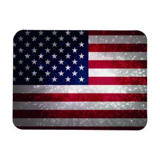 Bandeira dos Estados Unidos Foto Com Ímã Retangular