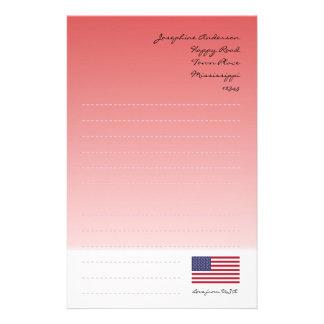 Bandeira dos Estados Unidos Papelaria
