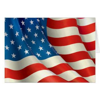 Bandeira dos Estados Unidos que acena a bandeira Cartão De Nota