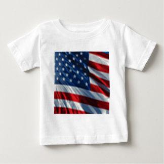 Bandeira dos EUA Camiseta Para Bebê