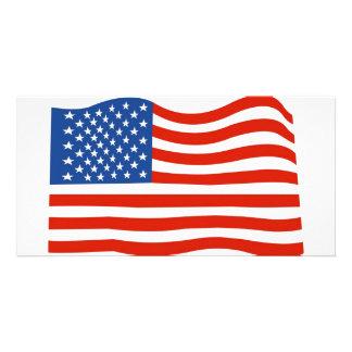 Bandeira dos EUA Cartão Com Foto