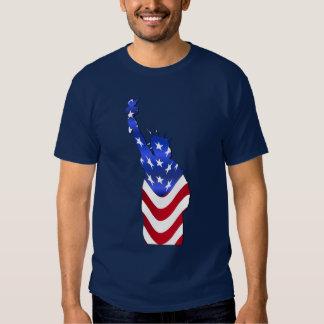 Bandeira dos EUA da estátua da liberdade Tshirts