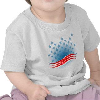 Bandeira dos EUA do Dia da Independência Tshirt