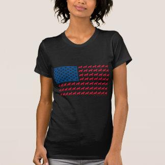 BANDEIRA dos EUA do german shepherd T-shirt