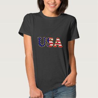 Bandeira dos EUA do monograma T-shirts