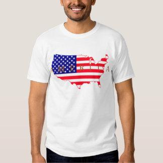 Bandeira dos EUA - mapa dos EUA - América Camiseta