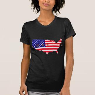 Bandeira dos EUA - mapa dos EUA - América Tshirts