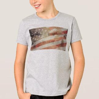 Bandeira dos EUA: T-shirt americano do roupa dos Camiseta