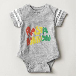 bandeira dos grafites da reggae da nação do rasta body para bebê