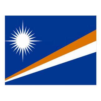 Bandeira dos Marshall Islands Cartão Postal